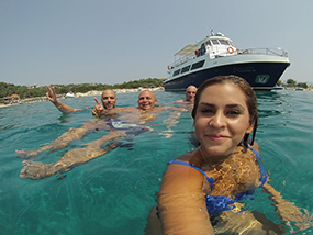 Swimming & Snorkelling BBQ Cruise For 2 Around Halkidiki, Greece