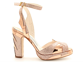 A Pair Of Terry de Havilland Zia Rose Gold Shoes In Size 39