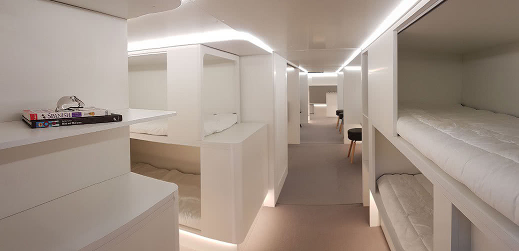 Would You Like To Sleep In The Cargo Hold On Your Next Flight?
