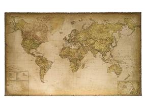 ZMAPS High Quality 2019 Modern World Canvas Map