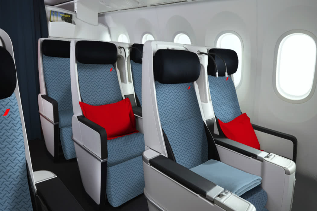 Picture Review Of Air France A330 Premium Economy Cabin