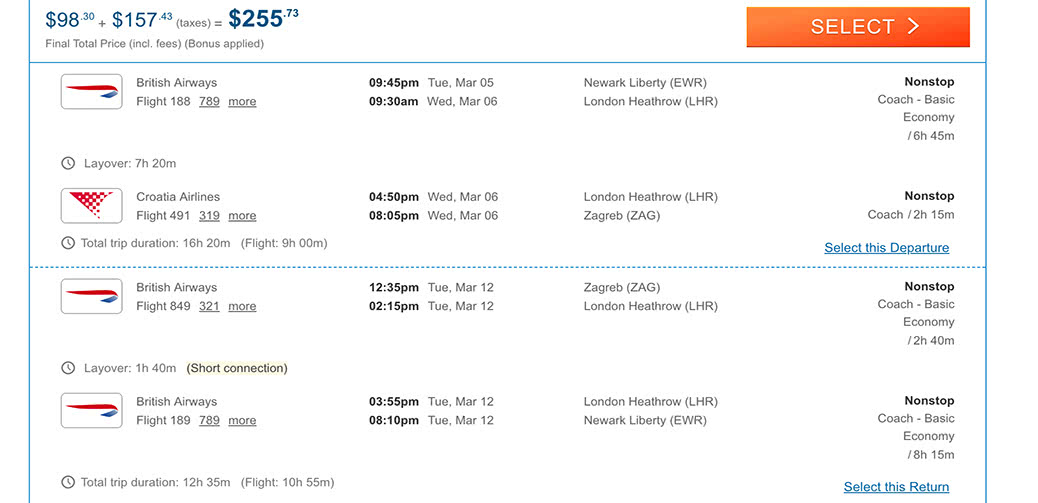 Ridiculous Flight Deal! Fly New York To Europe On British Airways For Less Than $128!