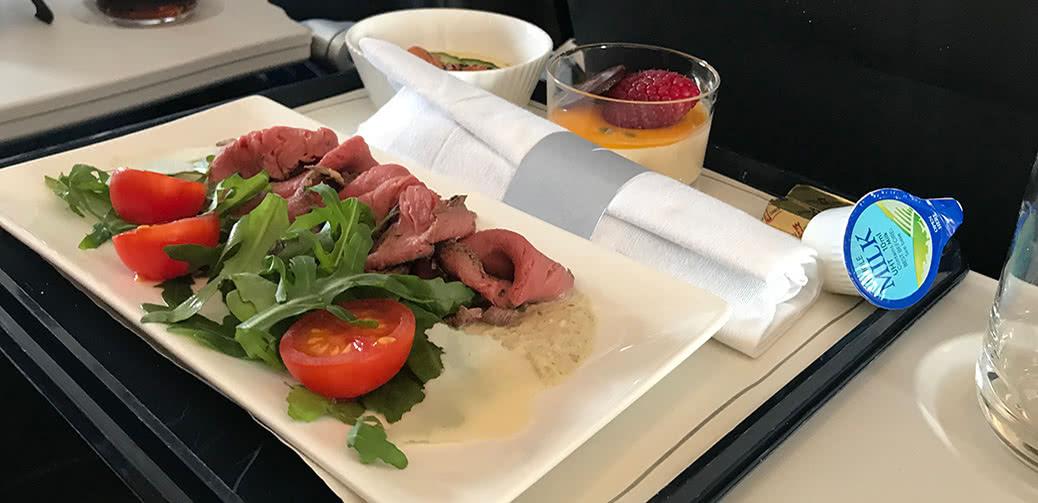 Beefy! British Airways Club Europe Lunch Menu