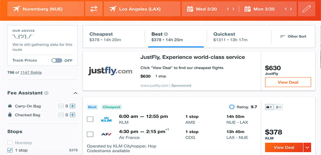 Europe To Los Angeles For $378 Return