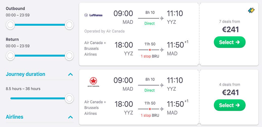 Bargain! Air Canada Transatlantic For 241 Euros