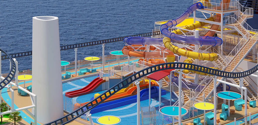 Carnival's Enormous Roller Coaster Cruise Ship Sails From New York