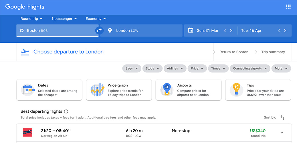 Deal Alert: US to London RT From $340!