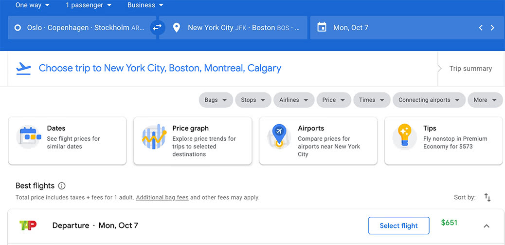 Surely A Mistake! Transatlantic Business Class To America For $651