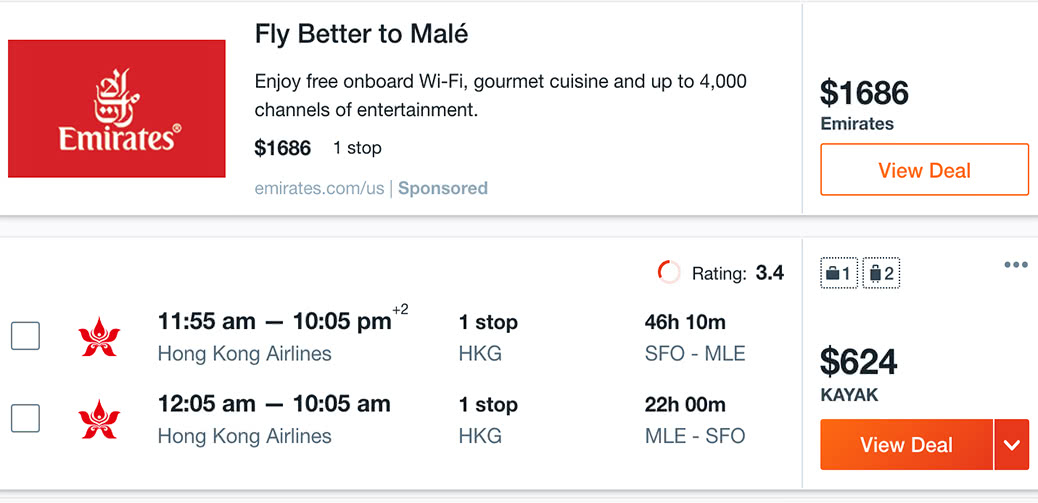 Half Price Flight To The Maldives! $624 Return