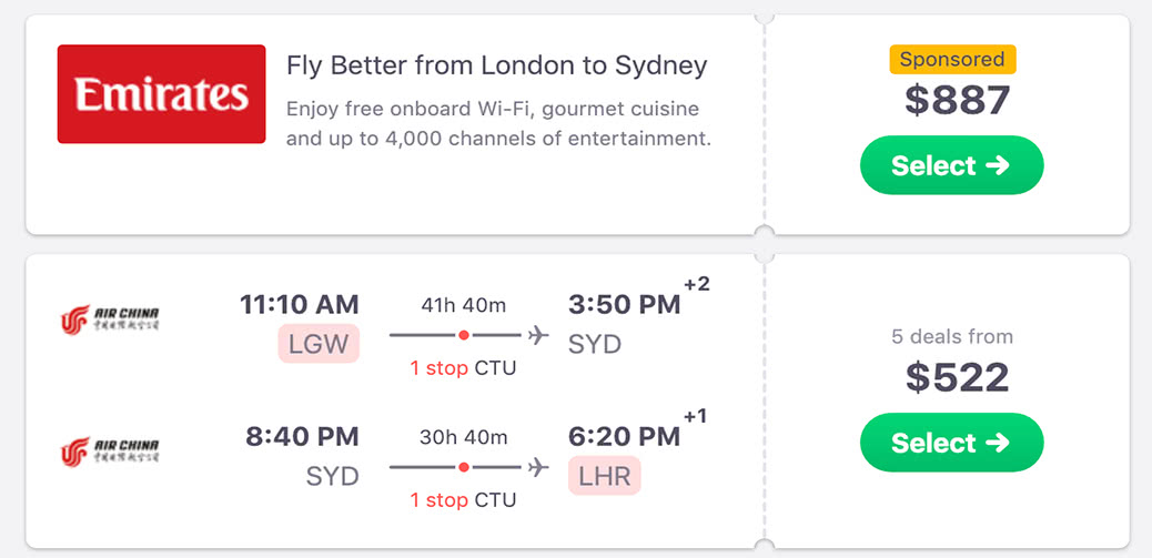 Bargain! London To Sydney And Back For Less Than 400GBP