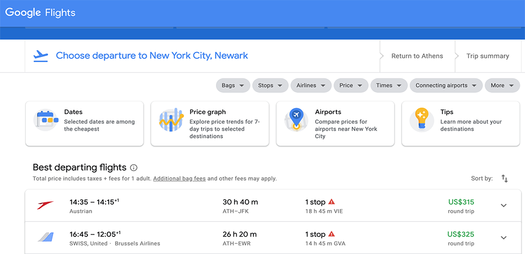 Half Price Sale Europe To New York Round Trip For $315