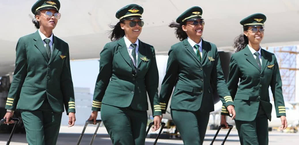 How Did They Look? Ethiopian Airlines All Female Flight Crew