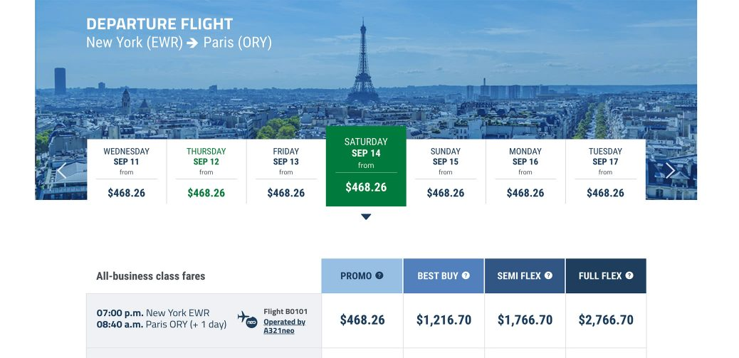Flash Sale: New York To Paris In Business Class For $468!